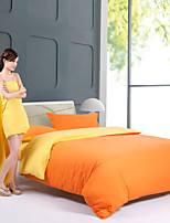 Yellow/Orange Polyester King Duvet Cover Sets