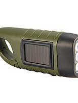 Hand and Solar Power Generation LED Flashlight(Green)