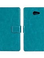 Pour Coque Sony Portefeuille / Porte Carte / Avec Support / Clapet Coque Coque Intégrale Coque Couleur Pleine Dur Cuir PU pour SonySony