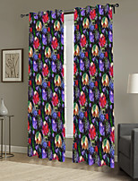 One Panel Curtain Designer , Camouflage Living Room Polyester Material Curtains Drapes Home Decoration For Window