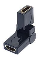 lwm® נקבת מתאם שומר יציאת HDMI לנקבה מצמד של 360 מעלות rotatable