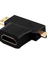 נקבת v1.4 HDMI לזכר HDMI מיני + ממיר מיקרו HDMI זכר מתג HDMI מתאם