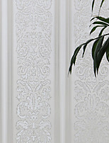 Retro Country Elegant White Floral Window Film - 0.5 × 5 m (1.64 × 16.4 ft)