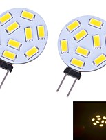 G4 W 9 SMD 5730 350 LM Warm White/Cool White Bi-pin Lights DC 12 V