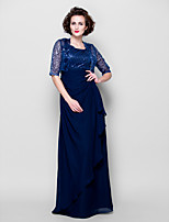 Women's Wrap Shrugs Half-Sleeve Sequined Dark Navy Wedding / Party/Evening Wide collar 39cm Sequin Open Front