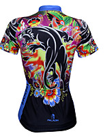 Cycling Tops / Jerseys Women's Bike Ultraviolet Resistant / Quick Dry / Sweat-wicking Short Sleeve Stretchy Coolmax Animal BlueS / M / L