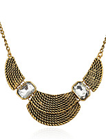 Women's Alloy Necklace With Crystal