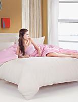 Pink/White Polyester King Duvet Cover Sets