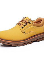 Men's Shoes Outdoor/Casual/Athletic Suede Oxfords Black/Brown/Yellow