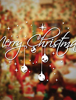 Merry Christmas Artistic Characters Window Sticker - 11.8