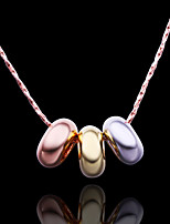 Fashion Round Shape Rose Gold Plated Pendant Necklace(Multicolor)(1Pc)