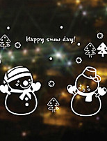 Merry Christmas Small Christmas Snowman Window Sticker - 21.7