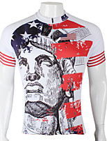 PaladinSport Men's Short Sleeve Cycling Jersey New Style The Statue of Liberty DX293 100% Polyester