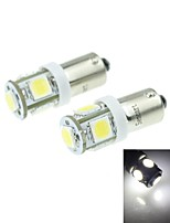BA9S (T4W W6W)2.5W 5X5054SMD 160-180LM 6000-6500K White Light for Car Lndicator (DC12-16V)