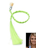 LED Color Change Luminous Hair Braid for Party Gatherings Props (Green)