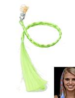 geleid kleurverandering lichtgevende haar vlecht voor partij bijeenkomsten props (groen)