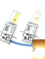 h3 pk22s 100W gele plated voor auto koplampen koplampen mistlampen 12v (1 paar gloeilampen)
