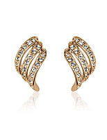 Vintage/Cute/Party Gold Plated/Alloy/Cubic Zirconia Stud Earrings