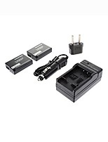 Ismartdigi-Panasonic DMW-BLD10E x2 (1010mAh,7.2V)Camera Battery+EU Plug+Car Charger For  GX1 GF2 G3 DMW-BLD10 BLD10E