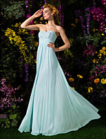 gaine / colonne sweetheart parole longueur robe de soirée en mousseline de soie