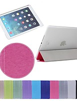 de simples triples impression pli de soie en cuir PU Plus PC cas de support pour iPad 2 l'air (couleurs assorties)