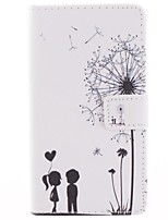 Couples Dandelion Pattern PU Leather Full Body Case with Pig Stand and Protective Film for Sony Xperia Z2