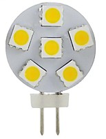 JUXIANG G4 2 W 6 SMD 5050 200 LM Warm White/Cool White Decorative Spot Lights DC 12 V