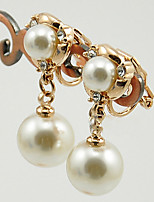 Vintage/Cute/Party Gold Plated/Alloy/Imitation Pearl Stud Earrings