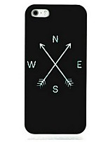 Black Compass Pattern Hard Case for iPhone 7 7 Plus 6s 6 Plus SE 5s 5
