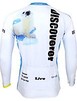 Deportes Bicicleta/Ciclismo Tops Hombres Mangas largas Transpirable / Resistente a los UV / Reductor del Sudor Coolmax Animal Azul claroS