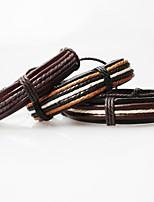 Z&X®  Vintage Tibetan Handmade Men's Leather Bracelets (1pc, 3 Colors Options)