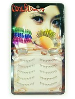 5pcs Handmade Crystal Edge  Eyelashes
