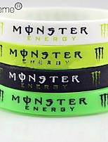 Lureme®Silicone Wristband Sports Bracelet(Random Color)