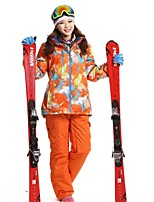 Women's Ski Clothing Sets/Suits / 3-in-1 Jackets Waterproof / Breathable / Dust Proof / Wearable / Windproof / Thermal / Warm Orange