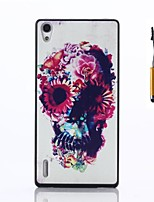 For Huawei Case Case Cover Pattern Back Cover Case Skull Hard PC for Huawei Huawei P7