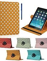9,7 pouces de 360 degrés motif de vague point de rotation avec le cas de stand et un stylo comme cadeau pour l'air de iPad 2 (couleurs