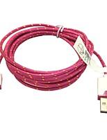 2m 6.6ft intrecciato micro usb cavo dati di sincronizzazione USB Charger per Samsung s2 / s3 / s4 htc sony lg tutti i telefoni Android (rosa)