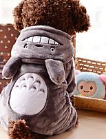 Lovely Velvet Gray Totoro Clothes for Pet Dog(Assorted Sizes)