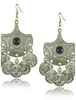 Nova brincos declaração Tribal jóias étnicas gypsy moeda brinco para as mulheres