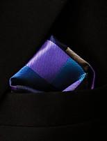 casual chèque multicolore motif la pochette de soie des hommes