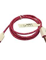 Tessuto intrecciato 1m micro USB Cavo adattatore di sincronizzazione per la galassia s3 / s4 sony lg (rosa)