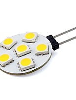 1W G4 LED à Double Broches 6 SMD 5050 76 lm Blanc Chaud / Blanc Froid Décorative DC 12 V