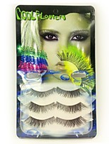 3pcs Cross Handmade Crystal Edge Eyelashes