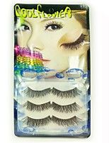 3pcs Handmade Crystal Edge  Eyelashes