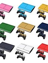 PS3 Slim 4000 console in fibra di carbonio 3d copertura protettiva sticker adesivo pelle controllore pelle