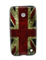 Для Кейс для Nokia С узором Кейс для Задняя крышка Кейс для Флаг Мягкий TPU Nokia Nokia Lumia 630