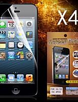 Protector de pantalla hd protector para el iphone 5 / 5s (4pcs)