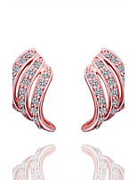 Fashion Environmental Protection Geometry Shaped Alloy Foreign Trade Gold Earrings Stud Jewelry(2 color)(1Pair)