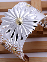 High quality sun flower Bohemia wide Bracelet Vintage/Cute/Party/Work/Casual Silver Plated Cuff Bracelet
