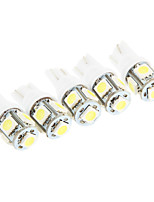 T10 2.5W 5*SMD 5050 180-200LM 6000K Light LED Bulb for Car Reading Light(DC 12V)